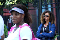 Serena Williams and director Michelle Major on the set of