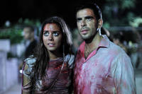 Lorenza Izzo and Eli Roth in