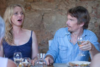Julie Delpy as Celine and Ethan Hawke as Jesse in