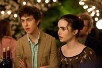 Nat Wolff as Rusty Borgens and Lily Collins as Samantha Borgens in