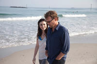 Lily Collins as Samantha Borgens and Greg Kinnear as Bill Borgens in