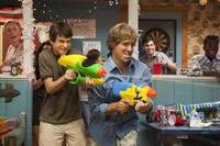 Liam James as Duncan and Nat Faxon as Roddy in