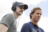 Jim Rash and Nat Faxon on the set of