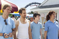 Nat Faxon as Roddy, Sam Rockwell as Owen, Liam James as Duncan and Maya Rudolph as Caitlyn in