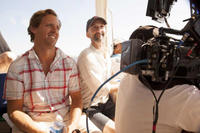 Nat Faxon and Jim Rash on the set of