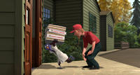 Reggie voiced by Owen Wilson and Pizza Dude voiced by Scott Mosier in