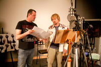 Director Jimmy Hayward and Owen Wilson on the set of