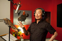 George Takei on the set of