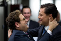 Jonah Hill and Leonardo DiCaprio in