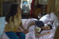 Jennifer Hudson as Naima and Jacob Latimore as Langston in