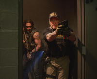 Joe Manganiello as Grinder and Arnold Schwarzenegger as Breacher in