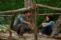 Dylan O'Brien as Thomas and Kaya Scodelario as Teresa in