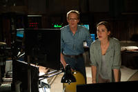 Paul Bettany as Max Waters and Rebecca Hall as Evelyn Caster in