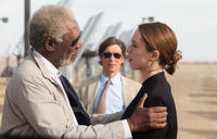 Morgan Freeman as Joseph Tagger, Cillian Murphy as Agent Buchanan and Rebecca Hall as Evelyn Caster in