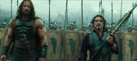 Dwayne Johnson as Hercules and Ian McShane as Amphiaraus in