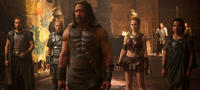 Rufus Sewell as Autolycus, Aksel Hennie as Tydeus, Dwayne Johnson as Hercules, Ingrid Bolso Berdal as Atalanta and Reece Ritchie as Iolaus in
