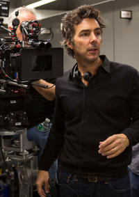 Producer-director Shawn Levy on the set of