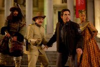 Patrick Gallagher, Robin Williams, Ben Stiller and Rami Malek in