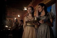 Emily Browning as Cassia and Jessica Lucas as Ariadne in