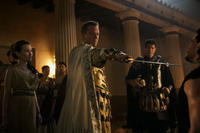 Emily Browning as Cassia, Kiefer Sutherland as Corvus, Kit Harington as Milo and Sasha Roiz as Proculus in