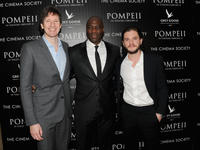 Director Paul W.S. Anderson, Adewale Akinnuoye-Agbaje and Kit Harington at the New York premiere of