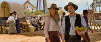 """Charlize Theron and Seth MacFarlane in """"A Million Ways to Die in the West."""""""