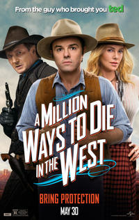 """Poster art for """"A Million Ways to Die in the West."""""""