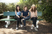 Julia Louis-Dreyfus, Nicole Holofcener and Catherine Keener on the set of