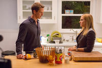Jason Dohring as Logan Echolls and Kristen Bell as Veronica Mars in