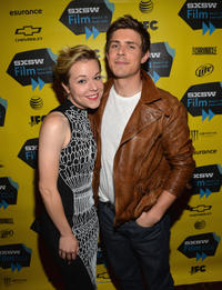 Tina Majorino and Chris Lowell at the Texas premiere of