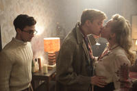 Daniel Radcliffe as Allen Ginsberg and Dane DeHaan as Lucien Carr in