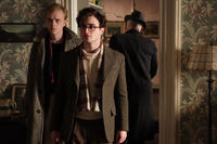 Dane DeHaan as Lucien Carr and Daniel Radcliffe as Allen Ginsberg in
