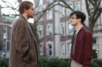 Michael C. Hall as David Kammerer and Daniel Radcliffe as Allen Ginsberg in