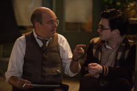 David Cross as Louis Ginsberg and Daniel Radcliffe as Allen Ginsberg in