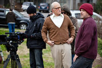 Johnny Knoxville and director Jeff Tremaine on the set of