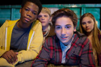Astro, Reese Hartwig, Teo Halm and Ella Linnea Wahlstedt in