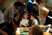 Director Dave Green, Reese Hartwig and Teo Halm in