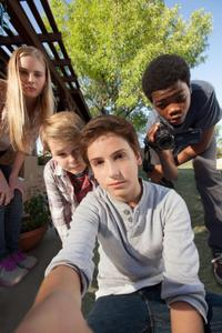 Ella Linnea Wahlstedt, Reese Hartwig, Teo Halm and Astro in