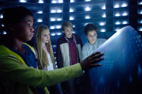 Astro, Ella Linnea Wahlstedt, Reese Hartwig and Teo Halm in