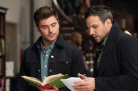 Zac Efron and director Tom Gormican on the set of