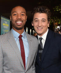 Michael B. Jordan and Miles Teller at the California premiere of