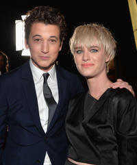 Miles Teller and Mackenzie Davis at the California premiere of