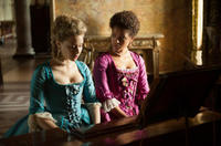 Sarah Gadon as Elizabeth Murray and Gugu Mbatha-Raw as Dido Elizabeth Belle in