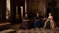 Gugu Mbatha-Raw as Dido Elizabeth Belle, Emily Watson as Lady Mansfield, Penelope Wilton as Lady Mary Murray and Sarah Gadon as Elizabeth Murray in