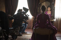 Gugu Mbatha-Raw on the set of