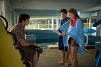 Harry Connick Jr. as Dr. Clay Haskett, Nathan Gamble as Sawyer Nelson and Cozi Zuehlsdorff as Hazel Haskett in