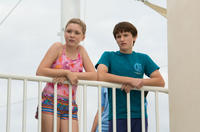 Cozi Zuehlsdorff as Hazel Haskett and Nathan Gamble as Sawyer Nelson in