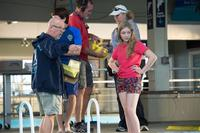 Director Charles Martin Smith, Nathan Gamble and Cozi Zuehlsdorff on the set of