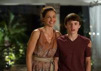 Ashley Judd as Lorraine Nelson and Nathan Gamble as Sawyer Nelson in