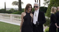 Carine Roitfeld and Karl Lagerfeld in